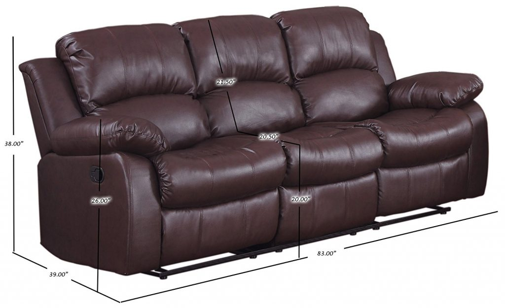 Homelegance Leather Reclining Sofa