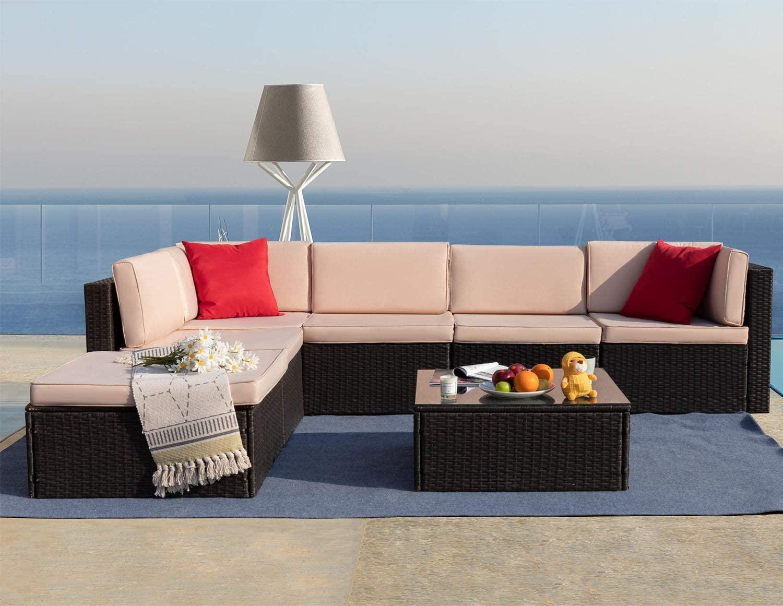 7 Pieces Patio Furniture