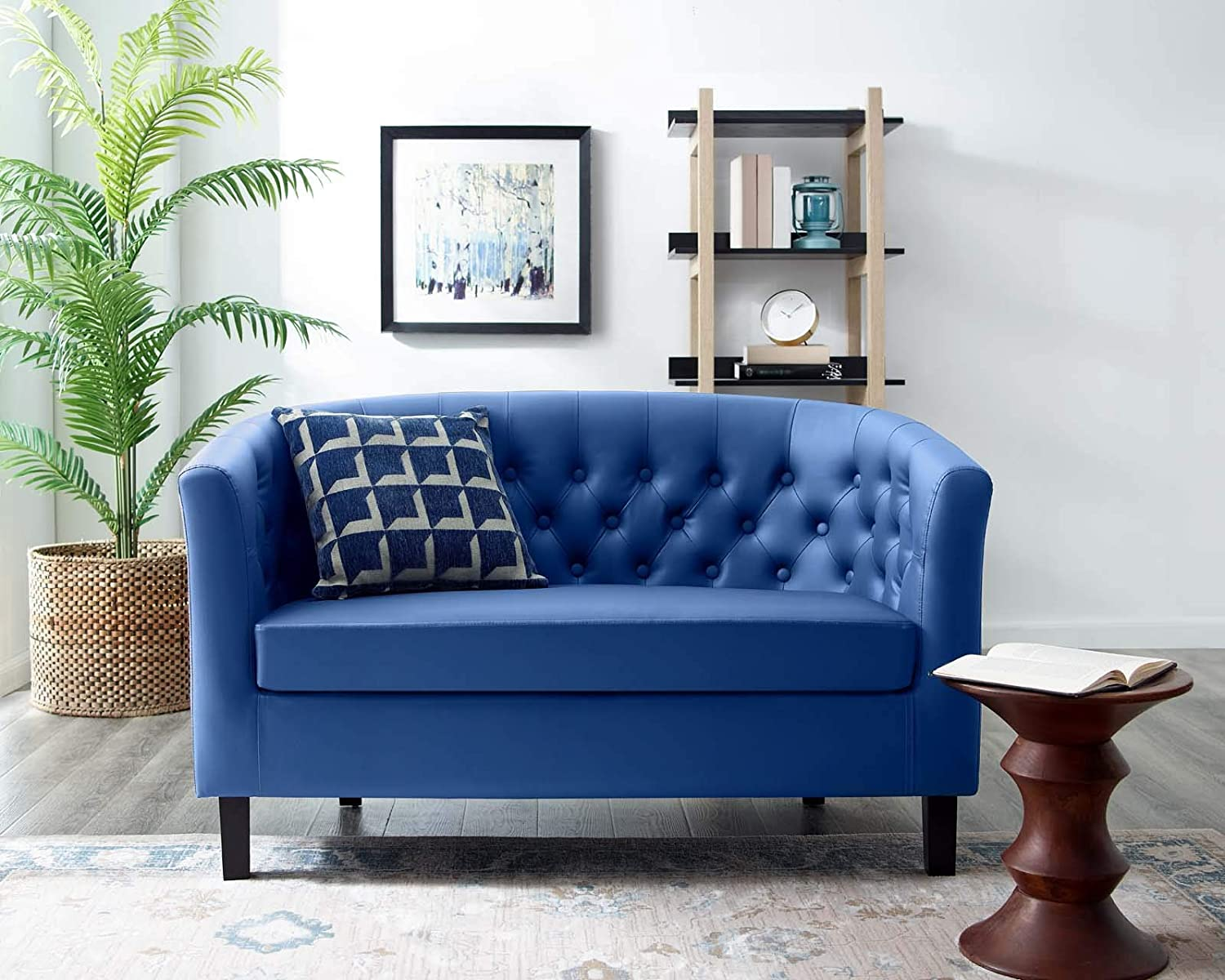 Why Contemporary Blue Velvet Sofa Is