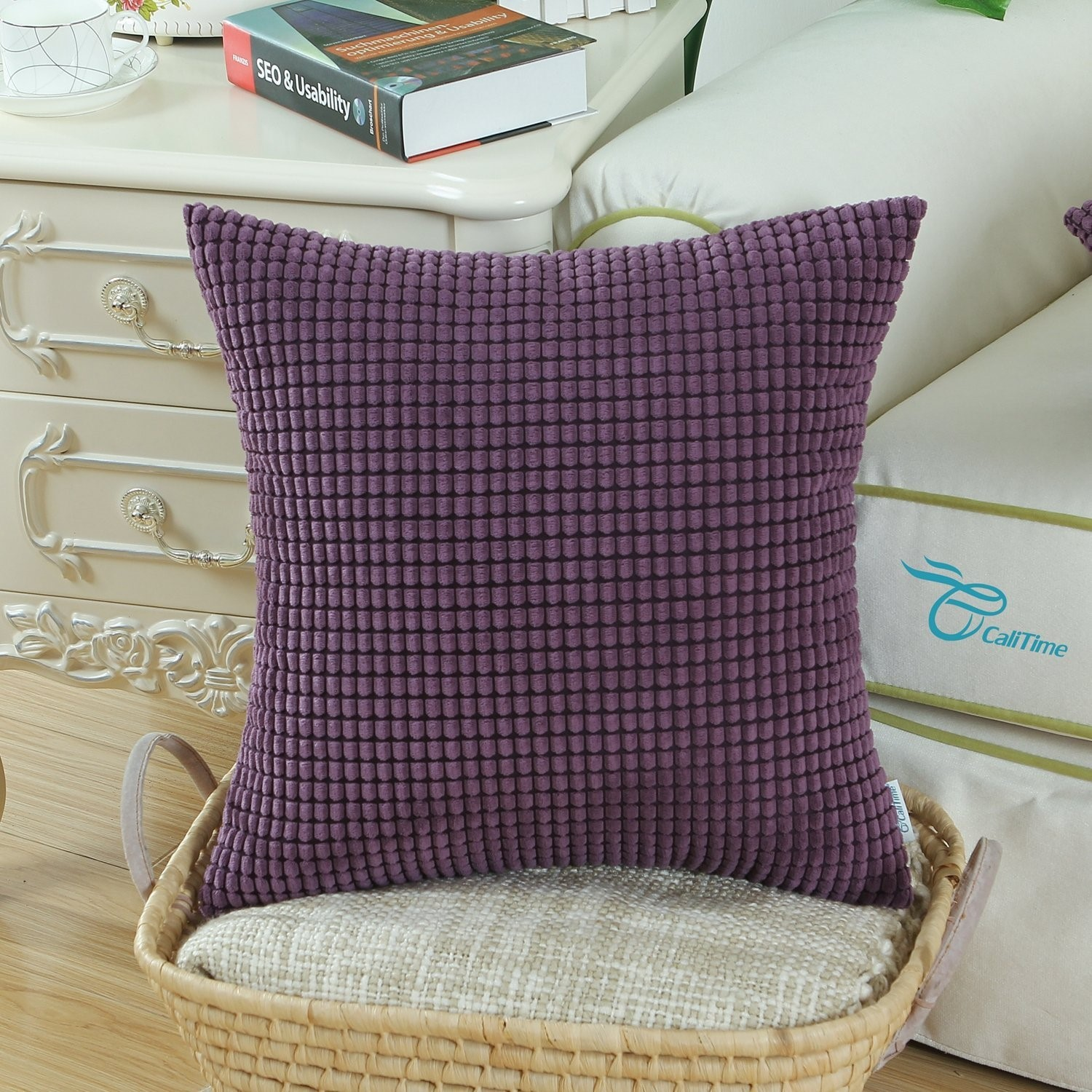 CaliTime Throw Pillow Covers