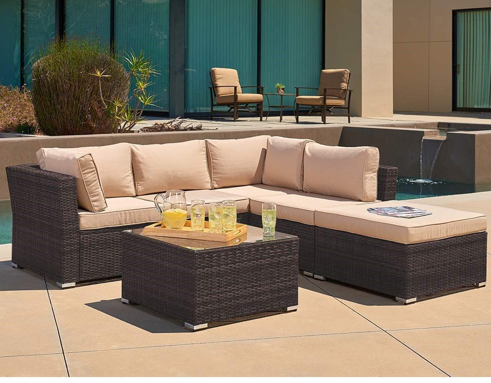 Suncrown Grey Patio Furniture Sectional Sofa Review