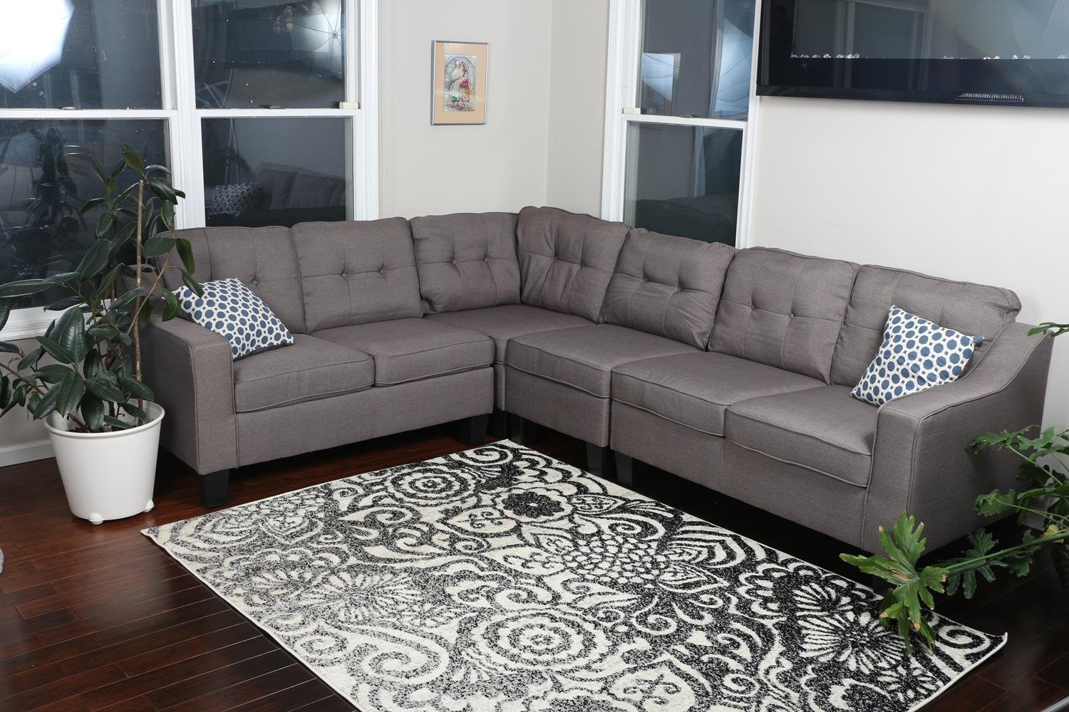 Best Prices Large Brownish Grey Sectional Sofa Review- Free ...