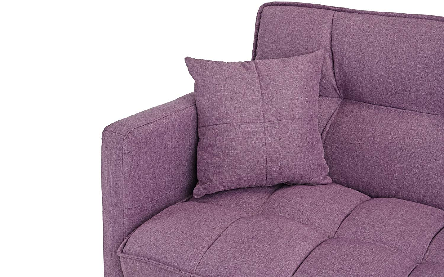Modern Plush Tufted Linen Best Prices Purple sleeper Sofa ...