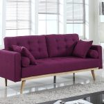 Purple Tufted Sofa