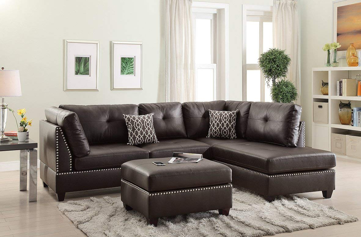 Faux Leather Sofa