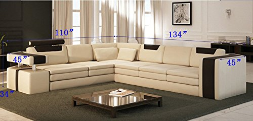 Modern Sectional Sofa Leather
