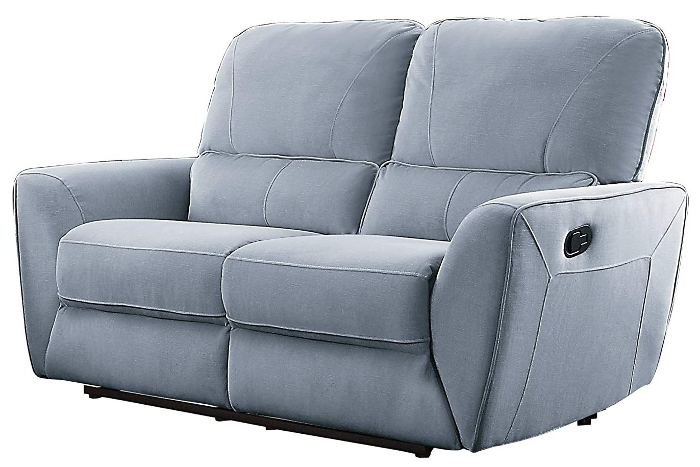 Gray Reclining Loveseat