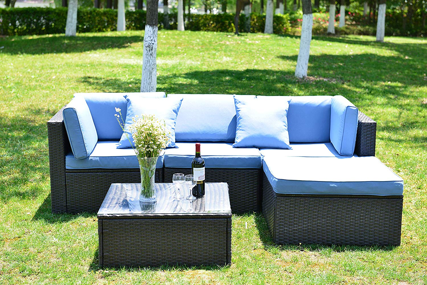 5pc Outdoor Patio Sectional