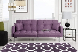 Modern Plush Tufted Linen Best Prices Purple Sleeper Sofa Review Free Shipping
